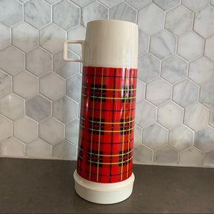 Vintage Red Plaid Thermos